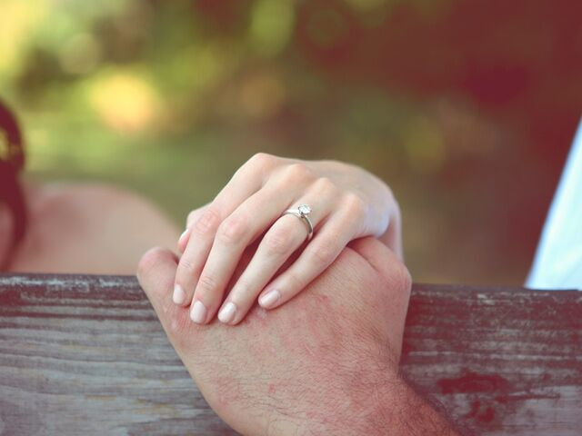 woman with wedding ring holding hands with man - Wedding Ring Insurance