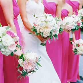 Images pink bridesmaid dresses