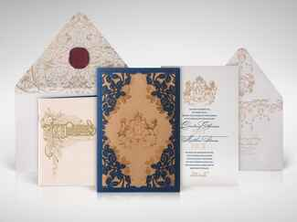 Atelier Isabey custom crest wedding invitation design