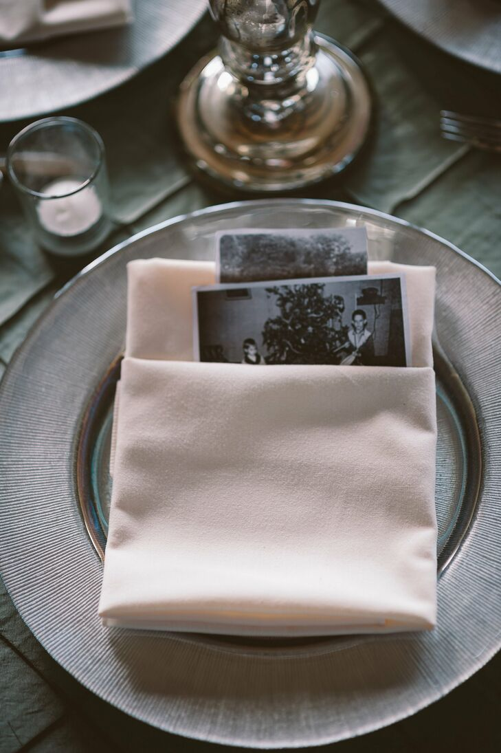 Nostalgic Photos at Place Settings