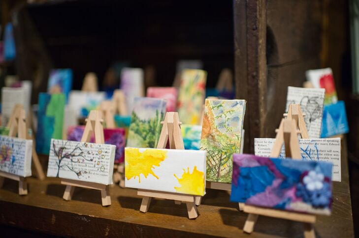 Wedding Take Home Gifts: Hand-Painted Art Wedding Favors