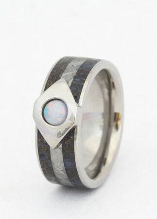 Dinosaur Bone Engagement Ring