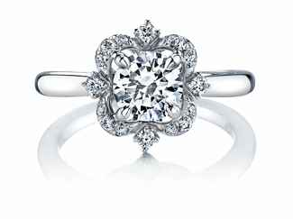 Parade Designs floral engagement ring