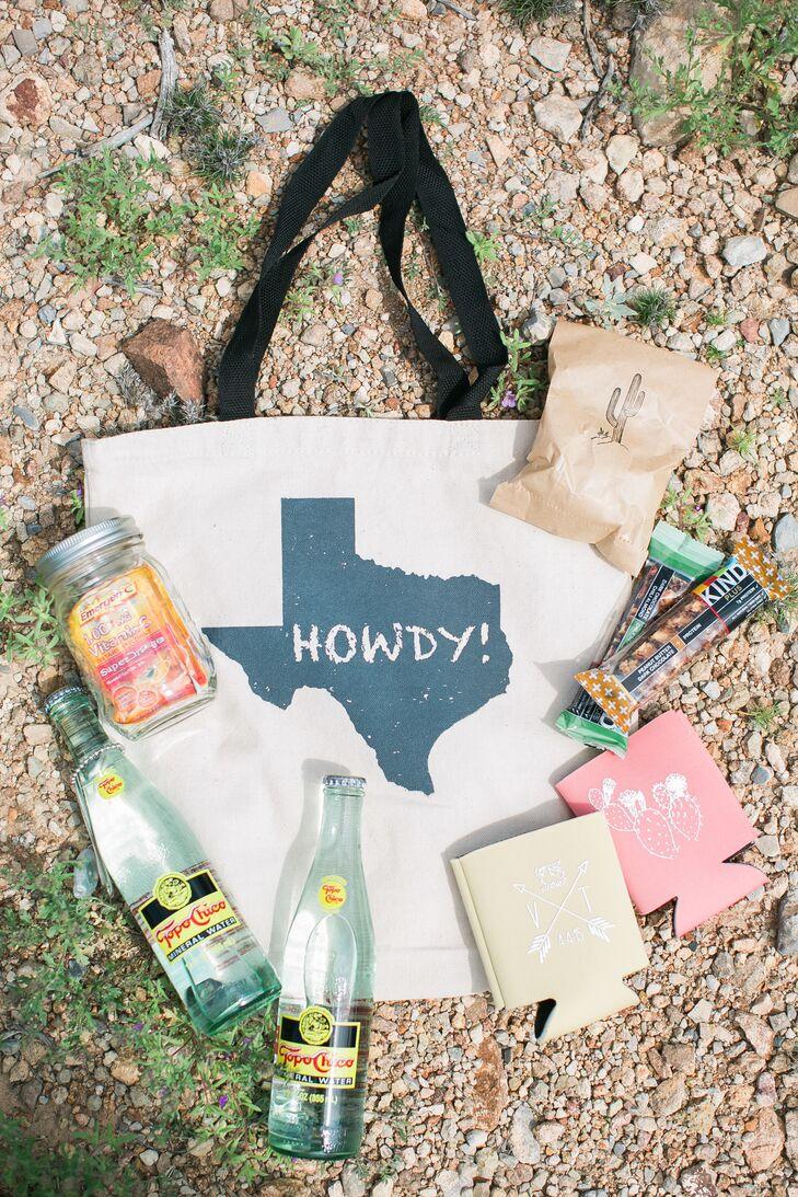 Texas Themed Destination Wedding Welcome Bag