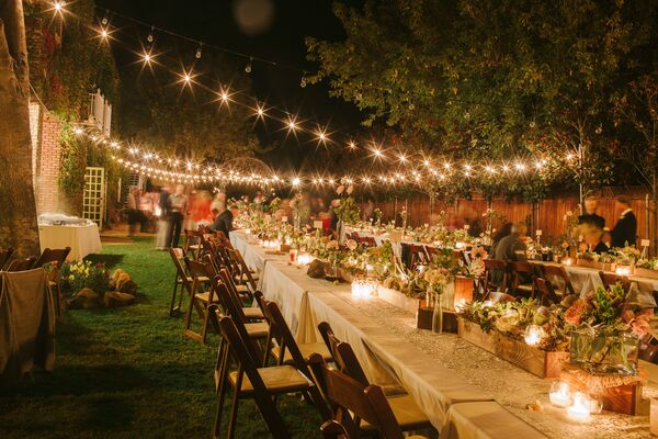 Lighted Outdoor Reception