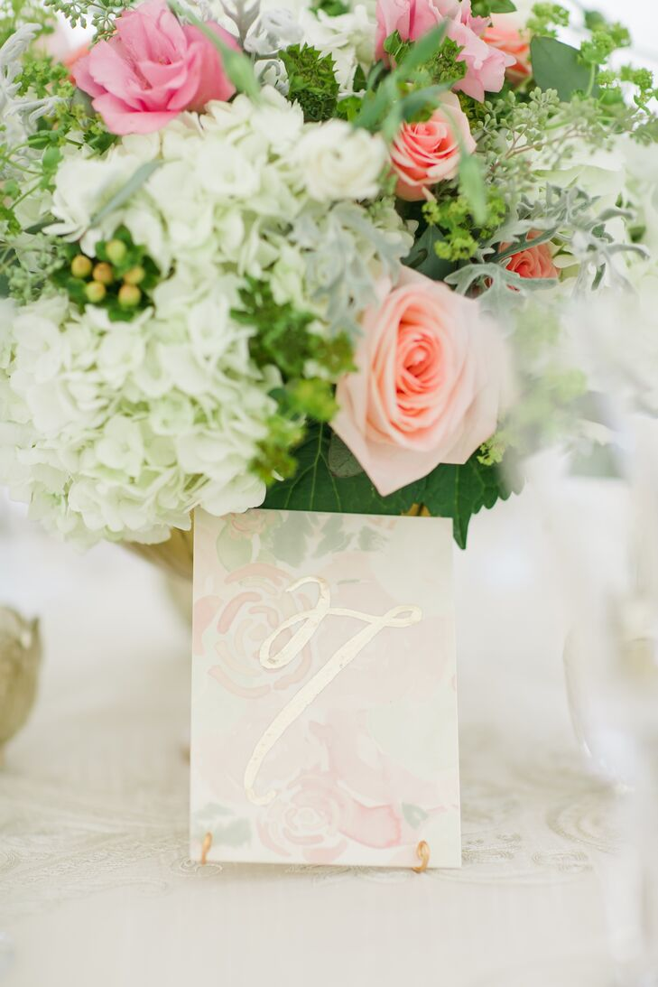 Elegant Floral Paper Table Numbers