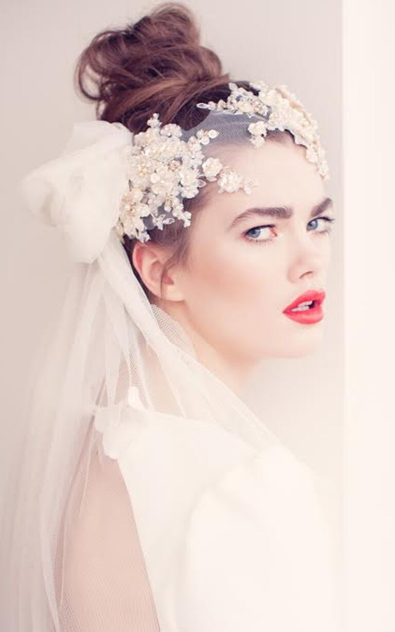 Wedding Hairstyles With Lace Veil