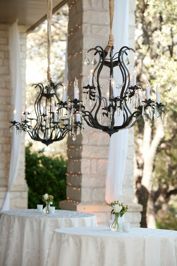 Wrought Iron Chandelier Decor