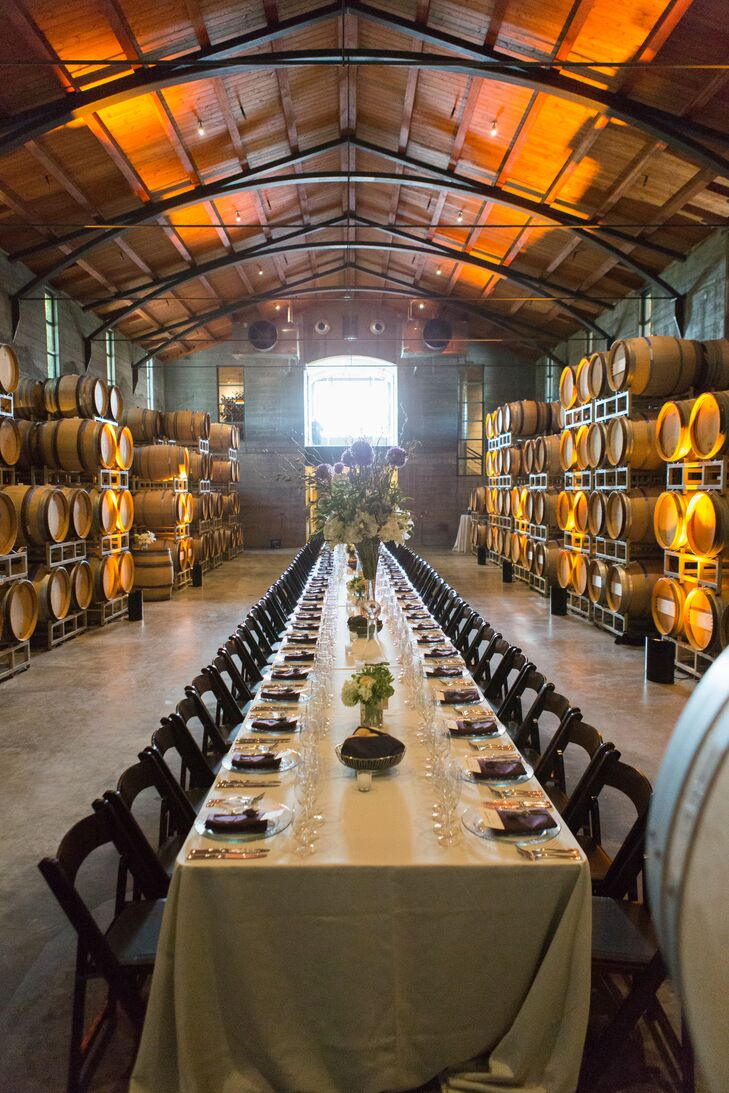 Stryker Sonoma Winery Barrel Room Wedding Reception