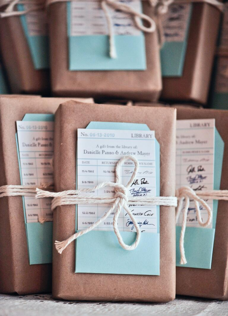Books wedding favor