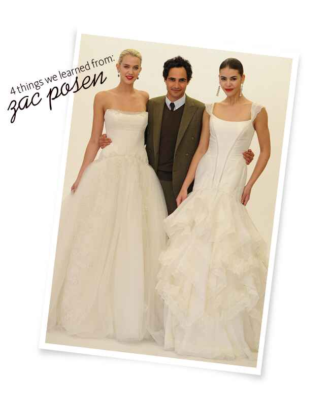 4 things we learned from zac posen | Kurt Wilberding | Blog.theknot.com