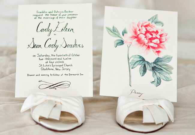 Simple Painted Flower Invitations |<img class=