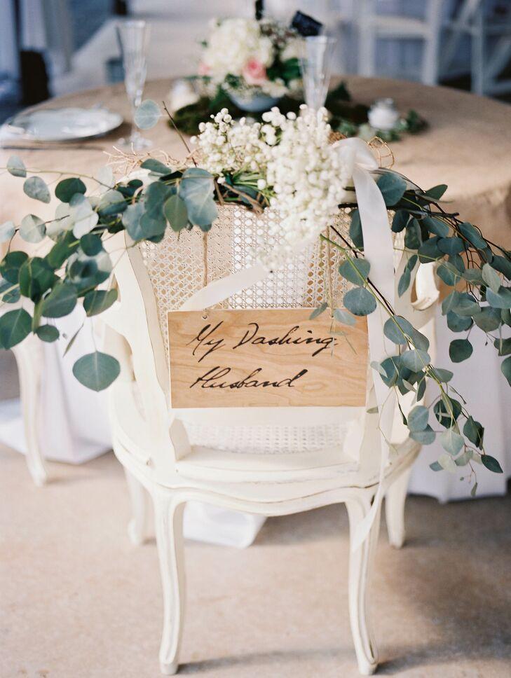 Seeded Eucalyptus Wedding Chair Decor
