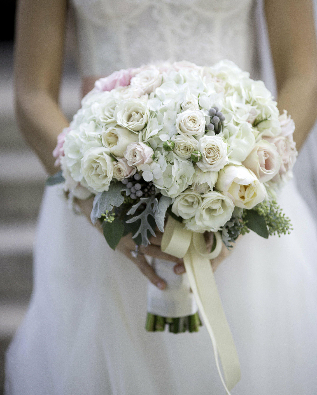 Blush Wedding Flowers: Ivory & Blush Bridal Bouquet