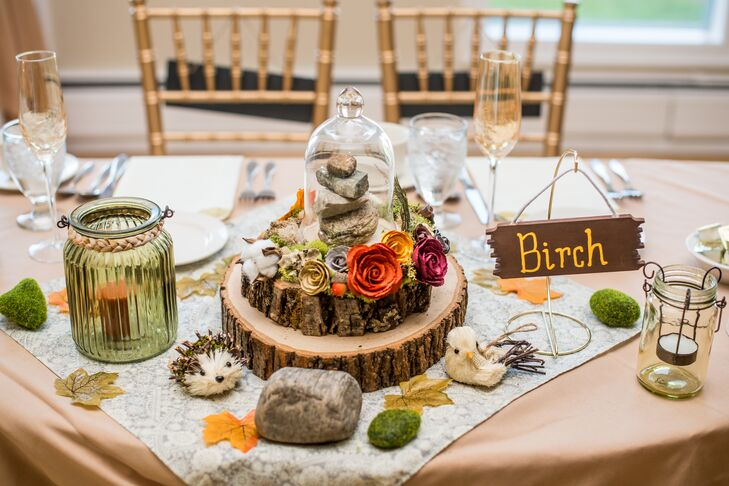 nature wedding decorations fall diy cairn hiking centerpieces 6098