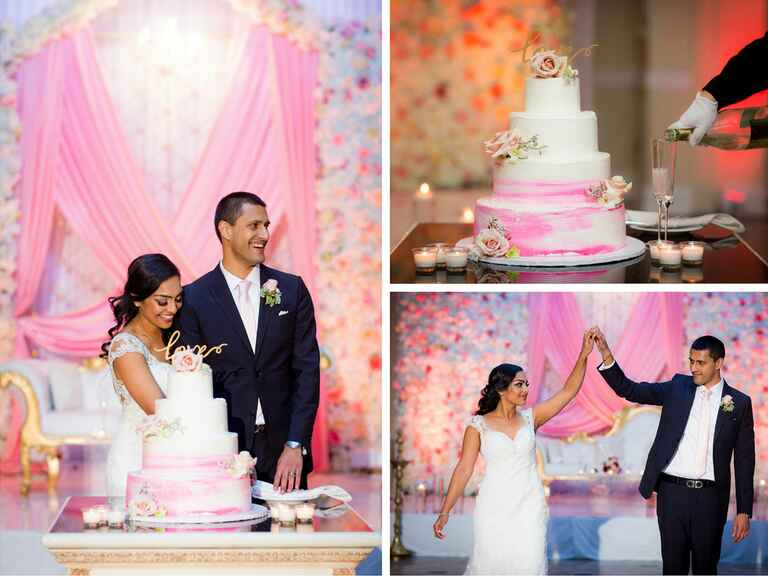 Ombre pink Indian wedding