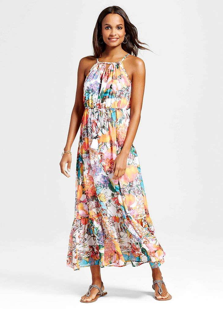 Floral Maxi Beach Wedding Guest Dress