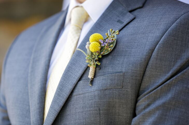 Billy Ball and Silver Brunia Boutonniere