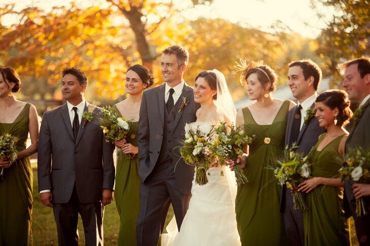 Earthtone Wedding Party Attire