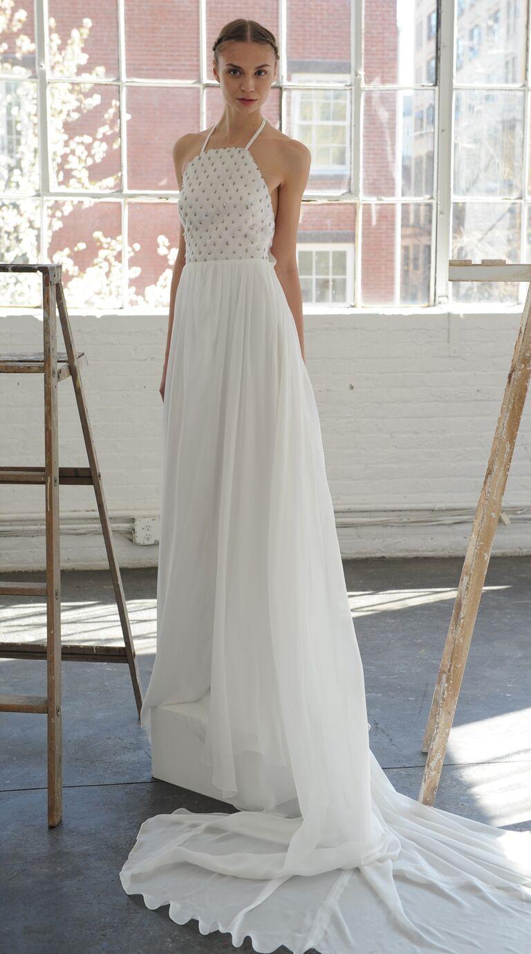 Halter Top With Grommets Wedding Dress From Lela Rose Spring 2017