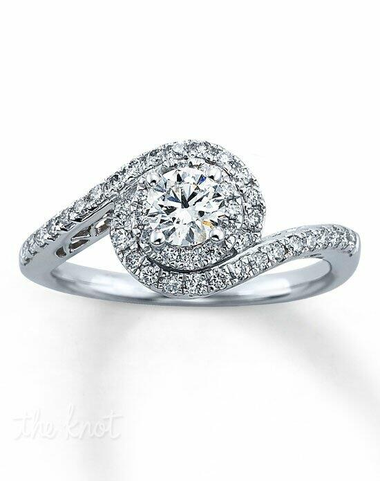 Tolkowsky Diamond Engagement Ring 3/4 ct tw Round-Cut 14K White Gold-990741302 Engagement Ring photo