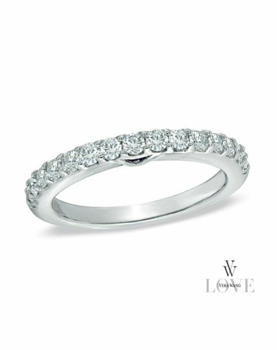 Vera Wang LOVE at Zales Vera Wang LOVE Collection 1/2 CT. T.W. Diamond Anniversary Band in 14K White Gold  18664284 Wedding Ring photo
