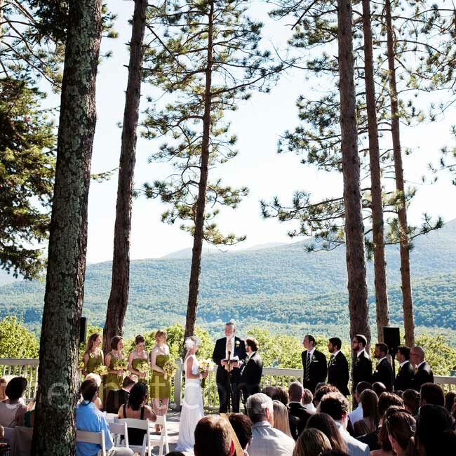 Mountain Wedding Ceremony: Onteora Mountain House Wedding Ceremony