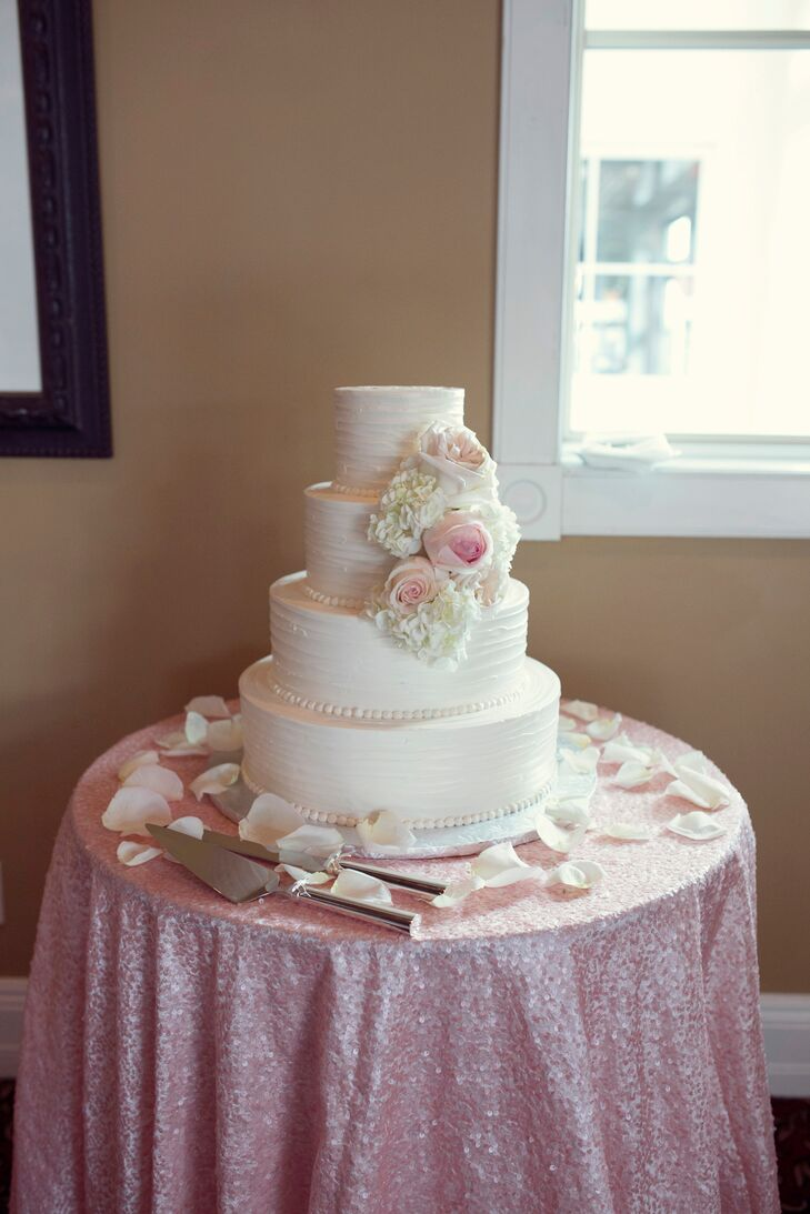 Four Tier Wedding Cake With