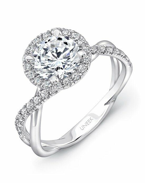 Uneek Fine Jewelry SM817RD-7.0RD Engagement Ring photo