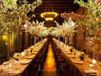 Tree branch wedding reception decor