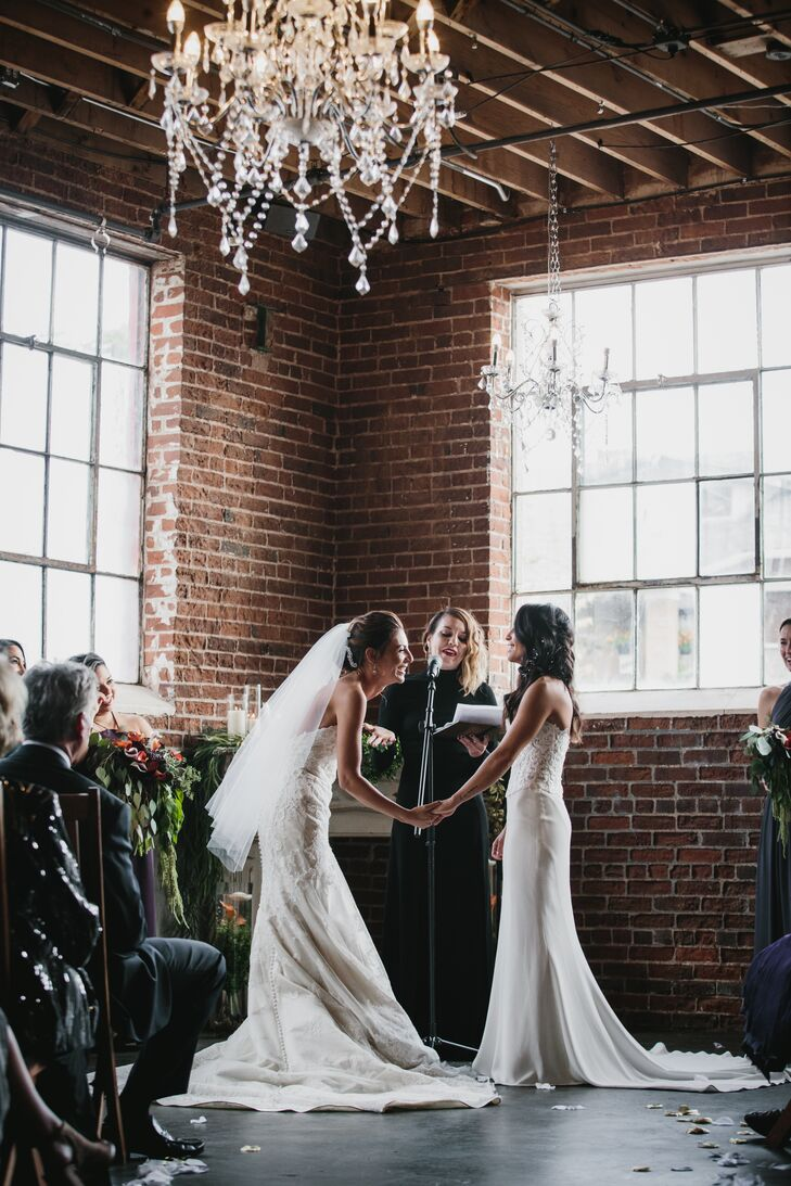 Rustic Industrial Loft Ceremony