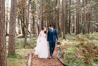 "Meryl	and Tim Miller wed in the woods of Pennsylvania at Krislund Camp & Conference Center—a summer camp the bride attended for 13 years. ""My grandfat"
