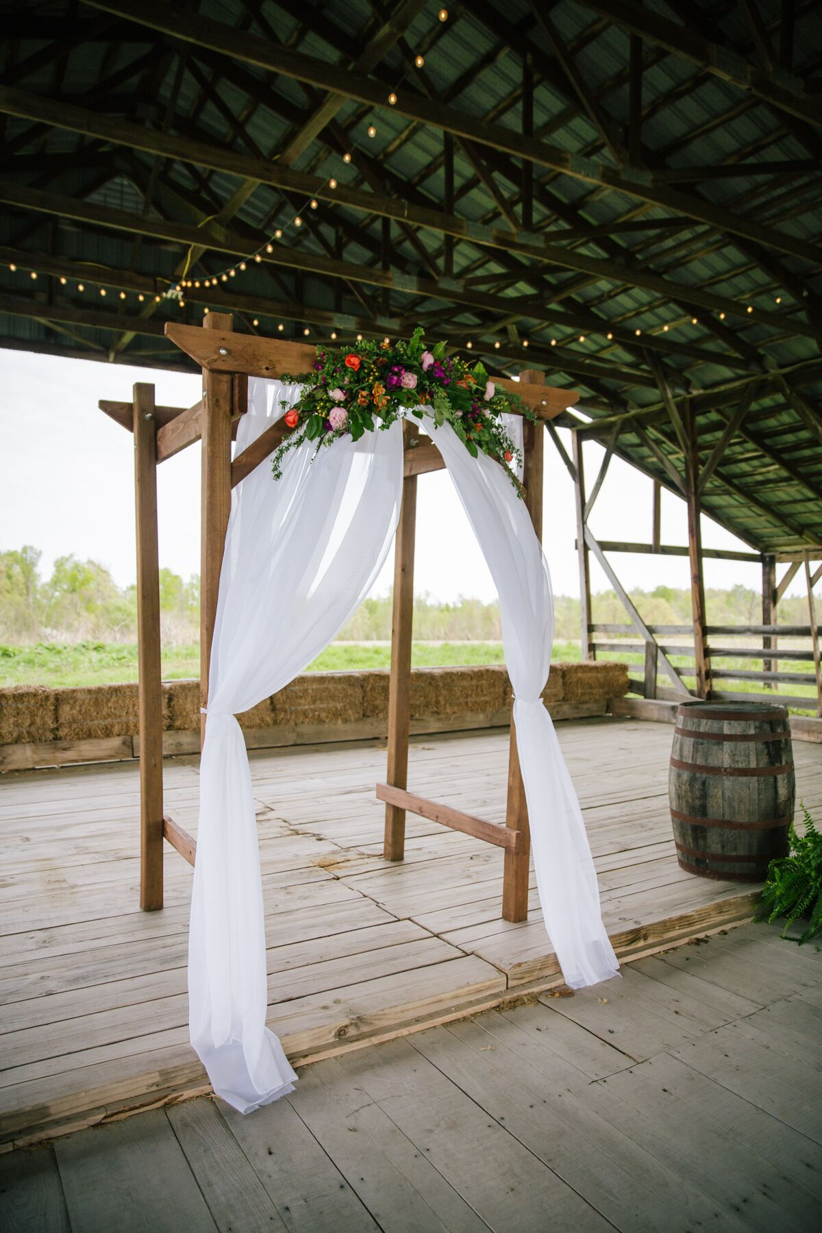 Diy Wooden Wedding Arch With Colorful Flowers