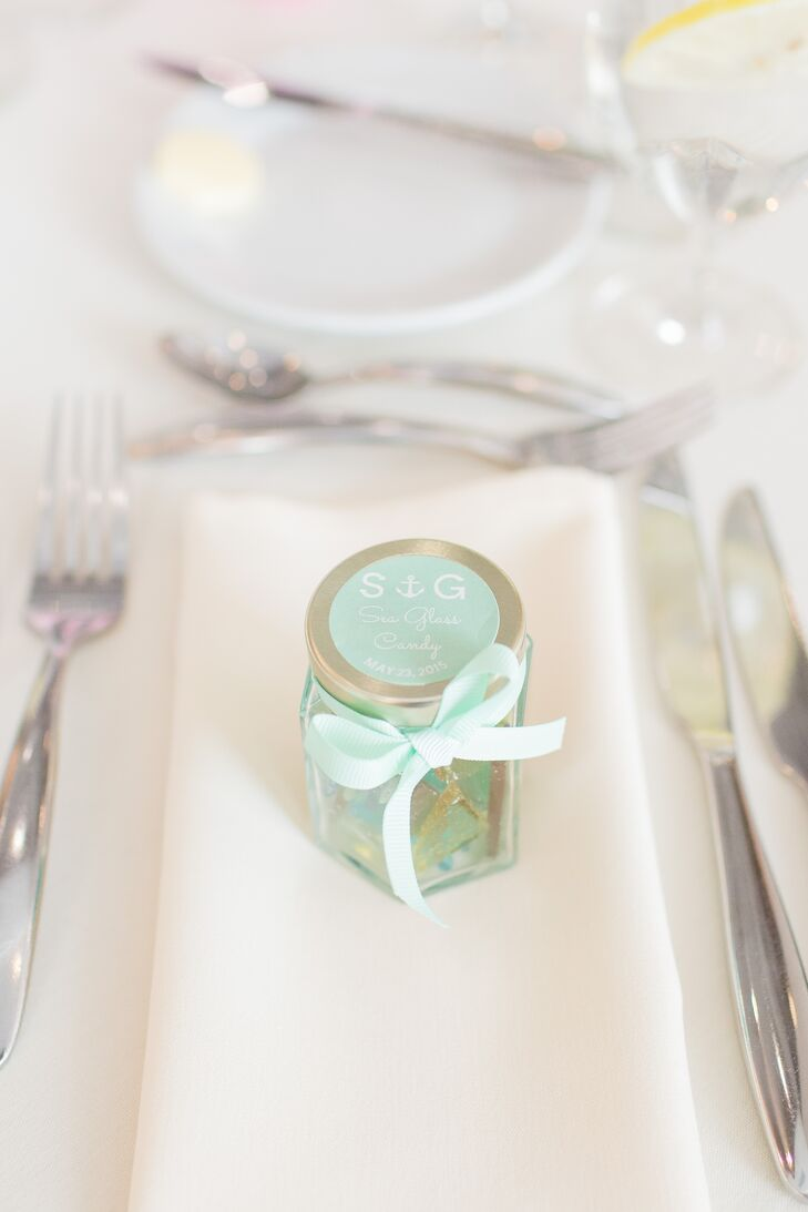 Homemade Sea Glass Candy Favors