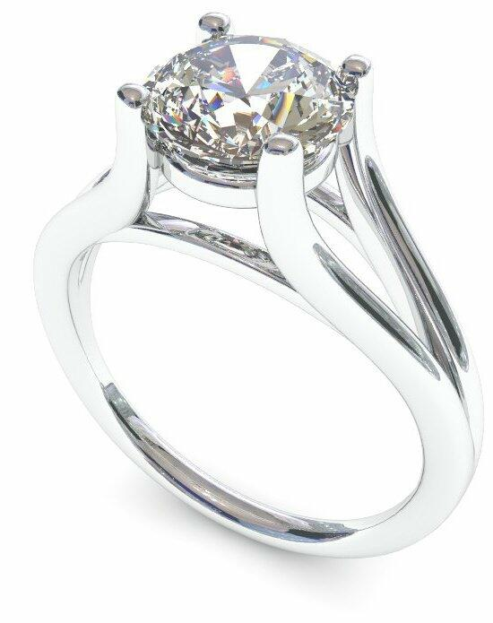Enchanted Diamonds Round Split-Shank Solitaire SL23-PT-R Engagement Ring photo