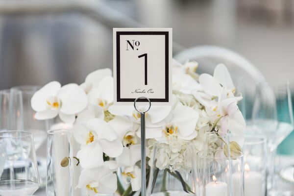 Black-and-White Framed Table Numbers