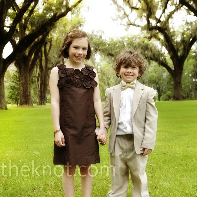 Brown Junior Birdesmaid Dress