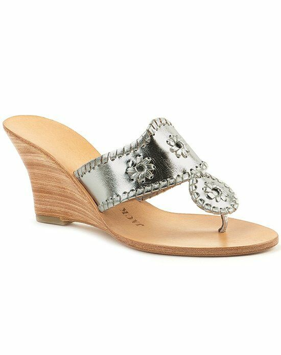 Jack Rogers Hamptons Hi Wedge-Silver Wedding Accessory photo