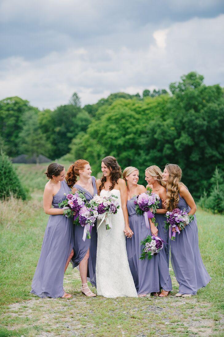 Lavender Dessy Bridesmaid Dresses