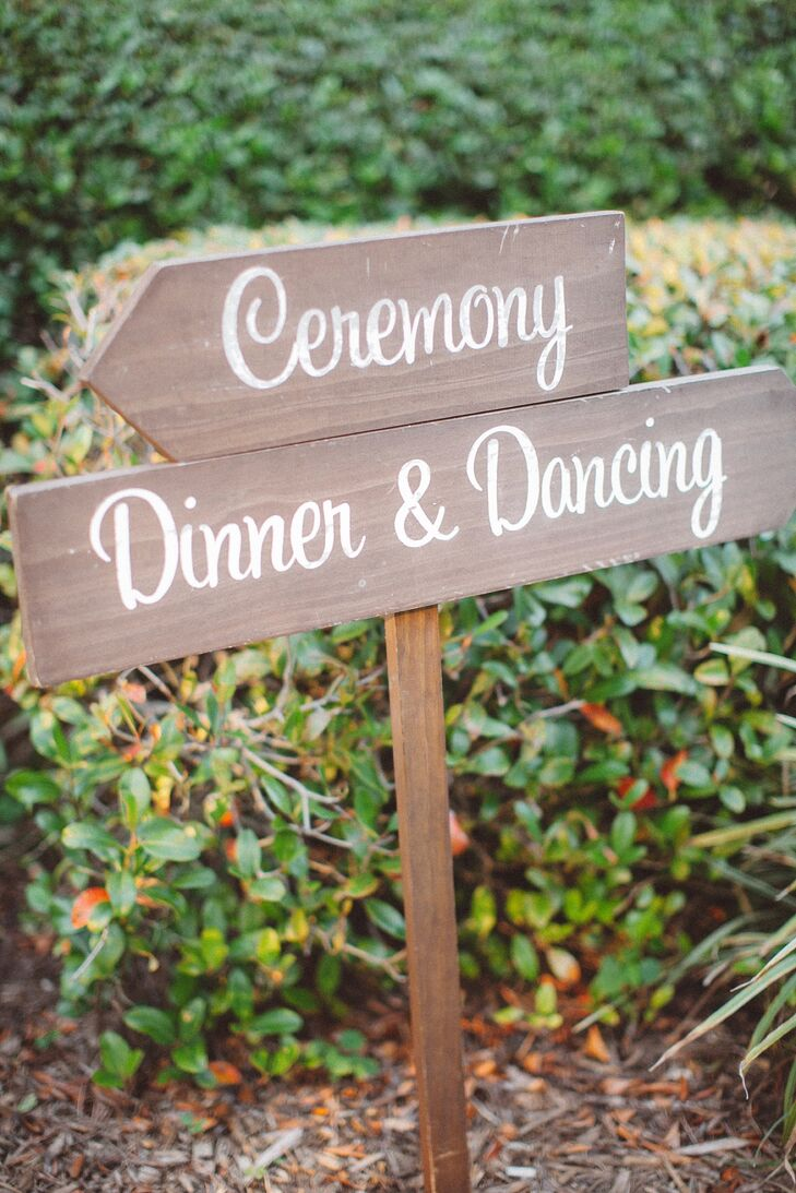 Simple Wedding Signs With White Script