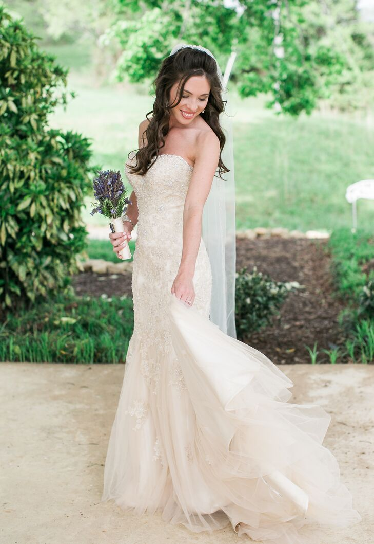 Champagne colored wedding dress stella york for Champagne color wedding dresses