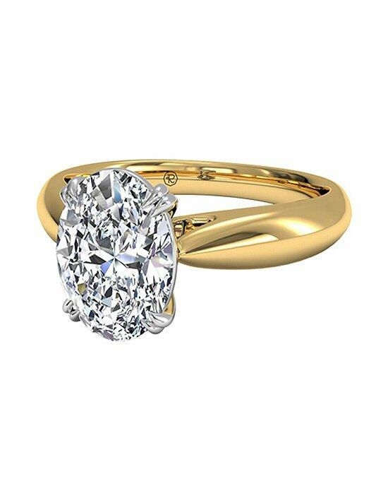 Ritani Oval Cut Solitaire Diamond Tulip Cathedral Engagement Ring in 18kt Yellow Gold Engagement Ring photo