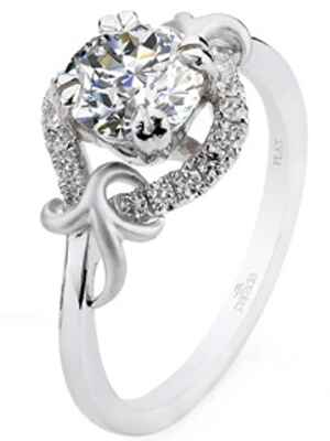 Parade Design satin engagement ring