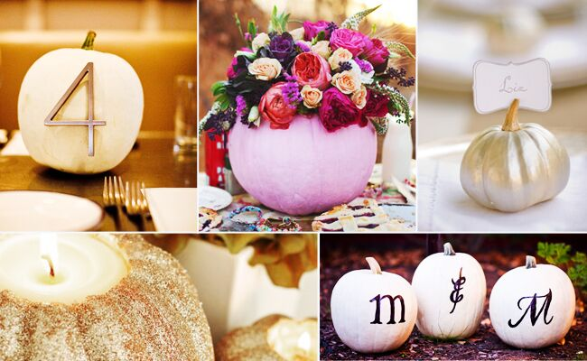 5 Chic Pumpkin Projects For Your Wedding