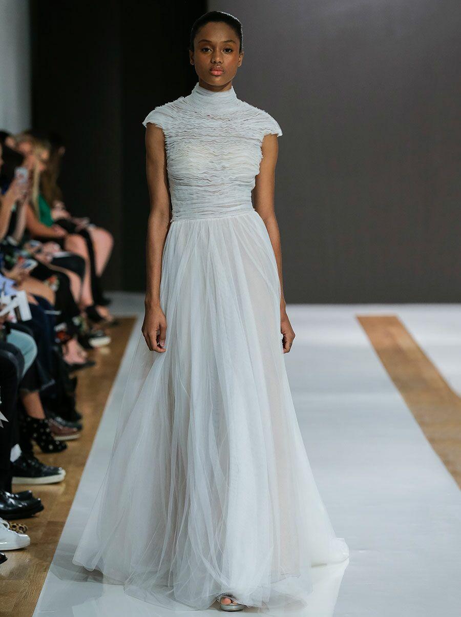 Mark Zunino Fall 2018 Collection: Bridal Fashion Week Photos