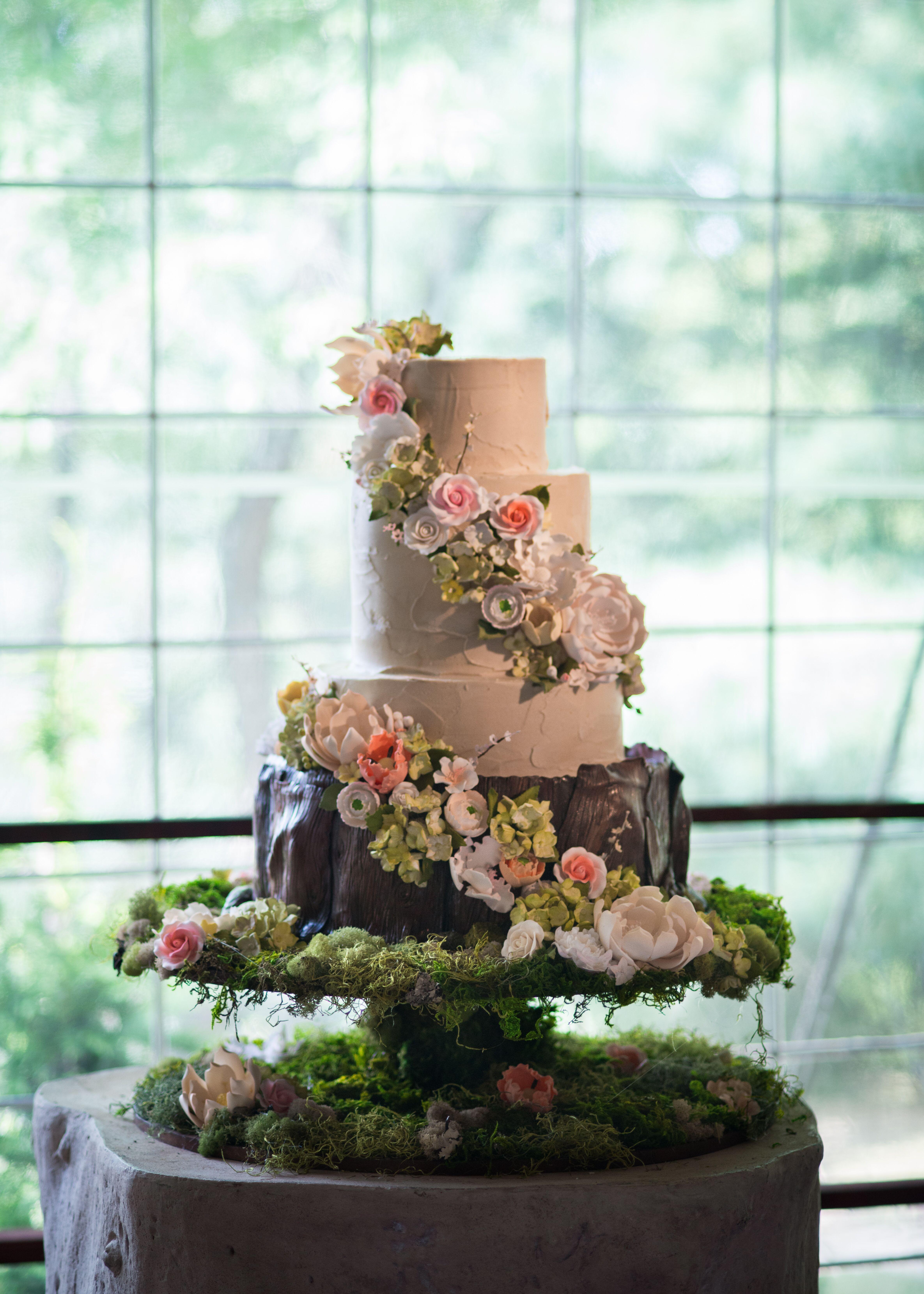 Whimsical Garden Inspired Wedding Cake