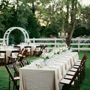 Chic Rustic Reception Decor