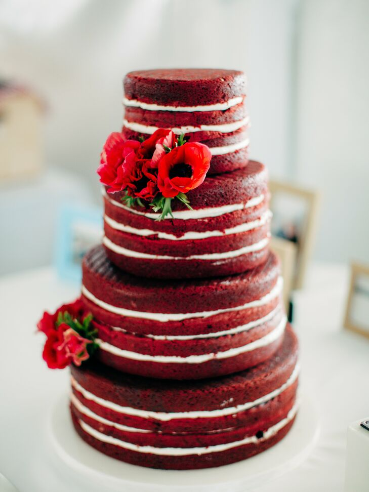 Buttercream Red Velvet Wedding Cakes