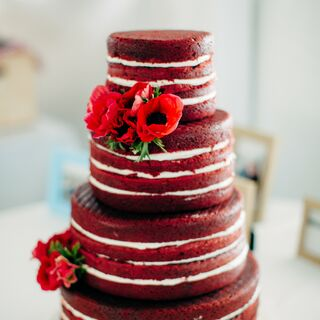 Real Red Wedding Cakes