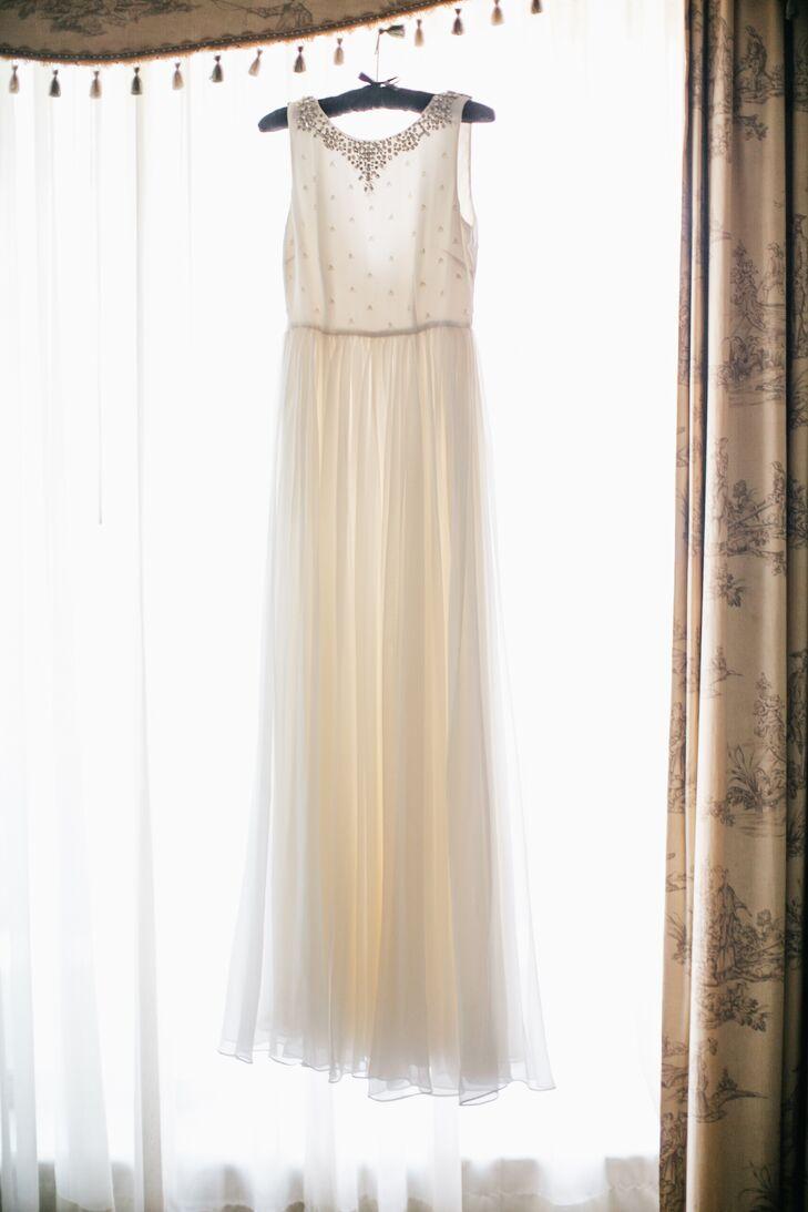 Ivory Silk Chiffon And Crepe Wedding Dress